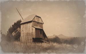 Větrný mlýn na Horce
