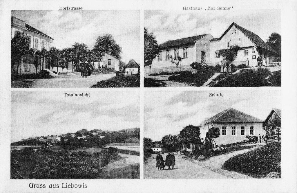 Stará škola je vpravo nahoře,od roku 1886 zde byl zřízen hostinec.